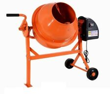 Electric Concrete Cement Plaster Drum Mortar Mixer Portable w/ Motor and Wheels