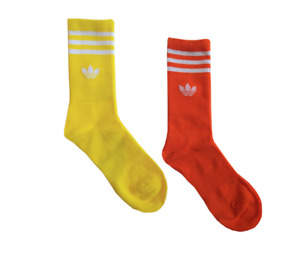 3-5 pairs pack ADIDAS BOLD COLORS Crew Socks Unisex fits size 6-12