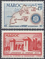 FRANCE COLONIE MAROC MOROCCO المغرب N°343/344 NEUF ** LUXE MNH