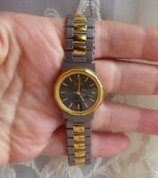 Ladies Medana Watch Matte Grey and Polished Gold Tone Black Round Dial MSRV $65