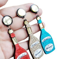 Women Boho Dangle Drop Stud Earring Acrylic Resin Ear Bottle Earrings Jewelry