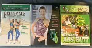 Workout DVD Lot- Slim In 6, Taebo Abs/Butt, Belly Dance For Beginners