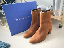 Stuart Weitzman Notazzie Amaretto Suede Leather Ankle Boots 7