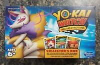 Yo-Kai Watch Trading Card Game 4x Booster Packs Collector's Box Kyubi Medal NEW