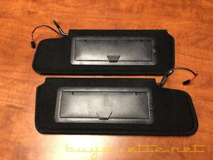 1984-1996 Chevrolet Corvette C4 Sun Visors Pair NEW w/ LED Lighted Mirror