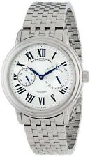 NEW RAYMOND WEIL MAESTRO 2846-ST-00659 AUTOMATIC CHRONOGRAPH SILVER MENS WATCH