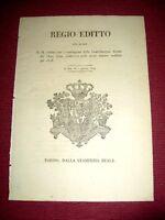 Regno di Sardegna Torino Decreto Regio Editto Contribuzioni dirette 1929