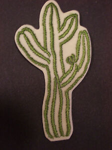"LARGE CACTUS PLANT, 4 & 5/8"", EMBROIDERY APPLIQUE PATCH EMBLEM LOT (10 DOZEN)"