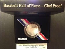 2014 S Baseball Hall of Fame Clad PROOF Half Dollar w Box + COA US Mint B35