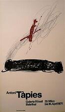 TAPIES Antoni Affiche Lithographie originale 1971 Tapies Espagne art abstrait