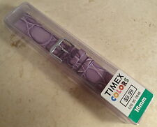 New Womens Authentic Timex Lavender Crocodile Grain 18mm Replacement Watch Band