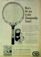 "1965 Bill Lufler""Tennis~Racket~Balls Fundamentals""Instruction Book ODDBALL AD"