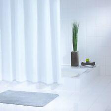 Duschvorhang Textil 120 x 200 cm Uni weiss, perfekte Qualität und zeitlos schön