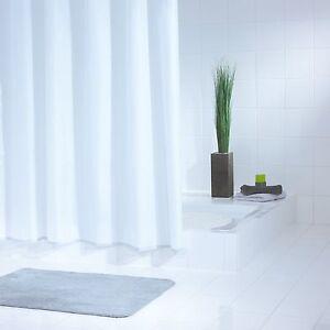 Duschvorhang Textil 240 x 180 cm Uni weiss, perfekte Qualität und zeitlos schön
