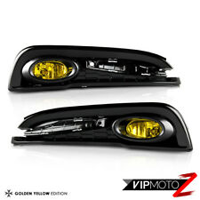 "For 13-15 Honda Civic 4D Sedan ""JDM GOLDEN YELLOW"" Bumper Fog Light Lamp+Bezel"