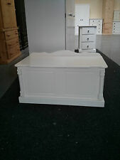 BUCKINGHAM PAINTED PINE SHABBY CHIC CREAM OTTOMAN TRUNK NO FLAT PACK