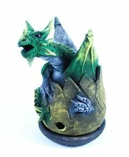Cône Brûle Encens Oeuf de Dragon Volant Vert - Porte encens