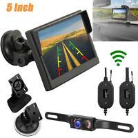 "Wireless Car Backup Camera Rear View System w/ Night Vision + 5"" TFT LCD Monitor"