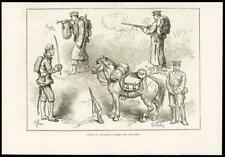 1877 Antique Print - JAPAN ARMY CAVALRY INFANTRY SOLDIERS BUGLER OFFICER  (017)