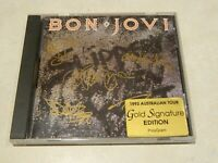 Bon Jovi Slippery When Wet CD [1993 Australian Tour - Gold Signature Edition]