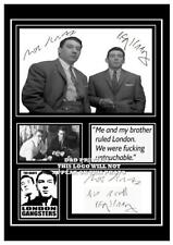 (#76) ronnie & reggie Kray The Kray Twins Signed a4 Photograph great gift @