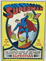 """Vtg 1974 DC COMICS Superman N.P.P.I Studio One 10x14""""  Wood Wall Hanger Plaque"""