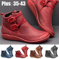 Fashion Women Winter Warm Leather Platform Snow Boots Ankle Boot Non-slip Shoes