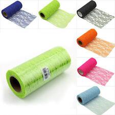 "6""x10yard Net Lace Rolls Tutu Tulle Floral Flower Spool Netting Fabric Decor"