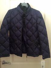 DKNY Navy Branded Coat Size UK XS