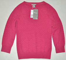 NEW H&M Women's Pink Soft Premium Cashmere Sweater 3/4 Sleeve Size XS NWT $69.95