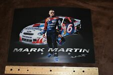 Photo of Mark Martin., #6,  Valvoline,  8.5 x 12, 2000, Stats on the back