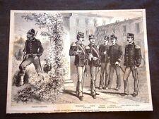Nuove divise militari del 1880 Forestali Granatieri Alpini Linea Capo musica