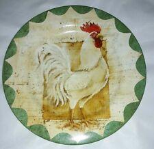Kim Poloson Sakura Colonial Rooster Itaglio Plate Salad