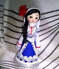 Beautiful Traditional Bulgarian Souvenir Doll with Vial-2ml