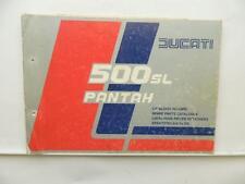 Ducati 500 SL Pantah Motorcycle Spare Parts Catalog Book L7693