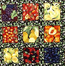 Fruit Card Squares fabric 38 x 112 cm 27 squares EB3411