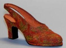 "Just the Right Shoe, Raine, ""Autumn"" mixed media miniature shoe #25070 Nib/Coa"