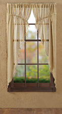 "Burlap Tobacco Cloth Khaki Prairie Curtains by VHC Brands - 63"" x 36"""