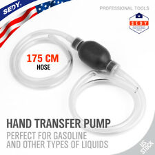 Large Manual Hand Siphon Syphon Transfer Pump Fluid Liquid Water Gas Gasonline