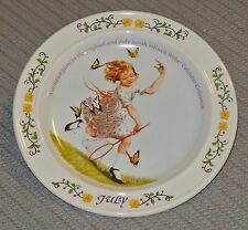 Certified plate original Sarah Stilwell Weber Calendar Collection month of July