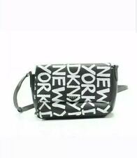 Authentic DKNY Brayden Graffiti Crossbody Bag - Black/White - Brand NEW