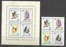 Q337-HOJA BLOC HONGRIE Nº8 Y TIMBRES FEUILLE 1671/4.16,00€?,NEUFS,VOIR PHOTOS