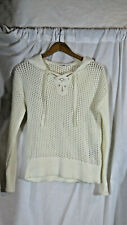 NWT Women's Gap Hooded Sweater with Front Lace-up, Size Small