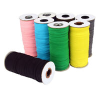 100M 1.5cm Gummiband Elastisch Band Seil Schutzkappe Clothing Bastel Nähen Dekor