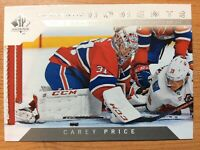 UPPER DECK 2018-2019 SP AUTHENTIC MOMENTS CAREY PRICE HOCKEY CARD #114