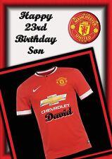Personalised birthday card Football Club son grandson son  boy friend b