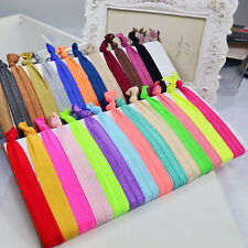30pcs Girls Elastic Hair Ties Rubber Band Knotted Hairband Ponytail Holder .