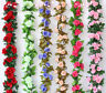 2.45M Artificial Fake Silk Rose Flower Ivy Vine Garland Wedding Party Home Decor
