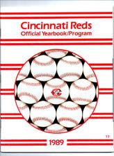 CINCINNATI REDS - 1989 - YEARBOOK - PROGRAM - Pete Rose, Ken Griffey