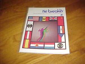 1974 The Tie Breaker CBS Tennis Classic Tennis Program
